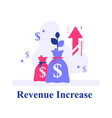 return on investment financial plan and strategy vector image