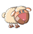 sad sheep icon cartoon style vector image