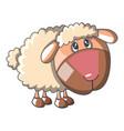 sad sheep icon cartoon style vector image