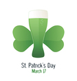 Saint Patrick s Day green beer vector image vector image