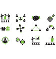 set of business working together icons vector image vector image
