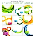 Set of colorful swirl motion templates vector image vector image