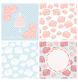 Set of four pastel wedding patterns for cards vector image