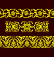 set of seamless golden patterns and floral element vector image vector image