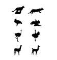 silhouettes a south america vector image