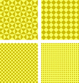 Simple yellow pattern background set vector image vector image