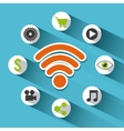 social marketing set flat icons vector image vector image