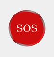 sos button icon vector image vector image