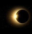 space sky background with solar eclipse vector image vector image