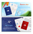 time to travel realistic banners vector image vector image