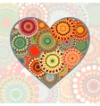 Vintage heart on pastel background vector image