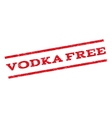 Vodka Free Watermark Stamp vector image vector image