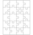 white jigsaw puzzle vector image vector image
