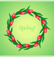 wreath of tulips vector image