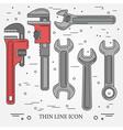 Wrench Icons Wrench Icons Wrench Icons Drawing Wr vector image vector image