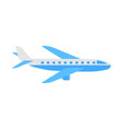 aircraft flat airplane icon vector image
