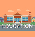 school education flat style concept vector image
