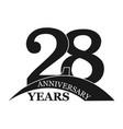 28 years anniversary flat simple design