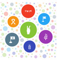 7 banner icons vector image vector image