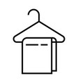 a hanger with tower icon with outline line style vector image