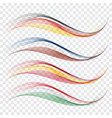 abstract wavesthe colors of the flag of germany vector image