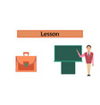 assembly flat icons male teacher vector image vector image
