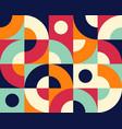 bauhaus seamless pattern geometric simple tile vector image vector image