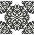 beautiful black vintage seamless pattern vector image vector image