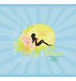 Bikini girl Grunge Poster vector image vector image