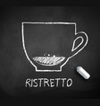 black and white sketch ristretto coffee vector image vector image