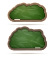 Blank green Blackboard cloud set EPS 10 vector image