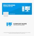 blue business logo template for computer desktop vector image