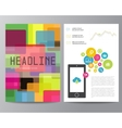 Booklet magazine poster flyer abstract banner vector image