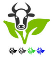 bull and plant flat icon vector image
