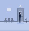 businessman opening door manager vector image vector image