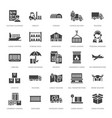 cargo transportation flat glyph icons trucking vector image