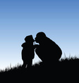 child kiss father vector image vector image