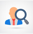 colored employee search trendy symbol vector image