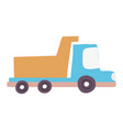 colorful dump truck industry and contruccion vector image vector image