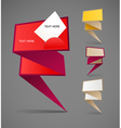Colorful polygonal origami banners vector image vector image