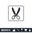 Coupon cutting icon flat vector image vector image