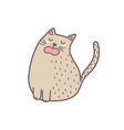 cute fat cat sitting and meowing isolated element vector image vector image