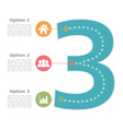 Design Template with Three Options vector image