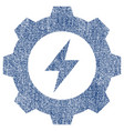 electric energy gear fabric textured icon vector image