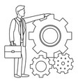 executive businessman avatar in black and white vector image vector image