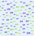 exotic tropical fish race seamless pattern vector image vector image