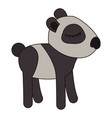 female panda cartoon with closed eyes expression vector image