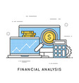 financial analysis project management statistics vector image