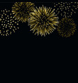firework gold sparkle background card beautiful vector image vector image