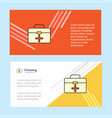first aid box abstract corporate business banner vector image vector image